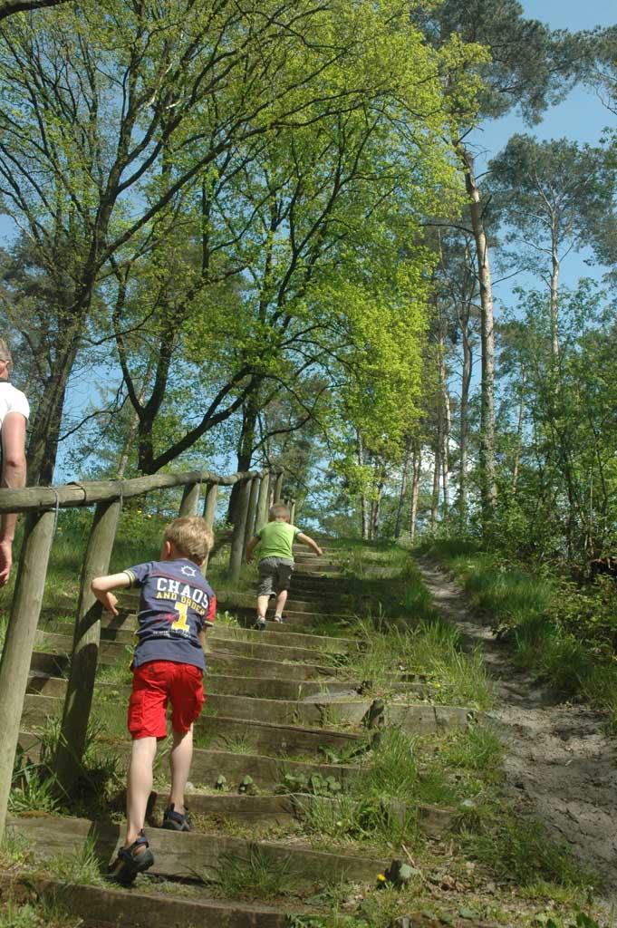 De route naar het Blotevoetenpark.