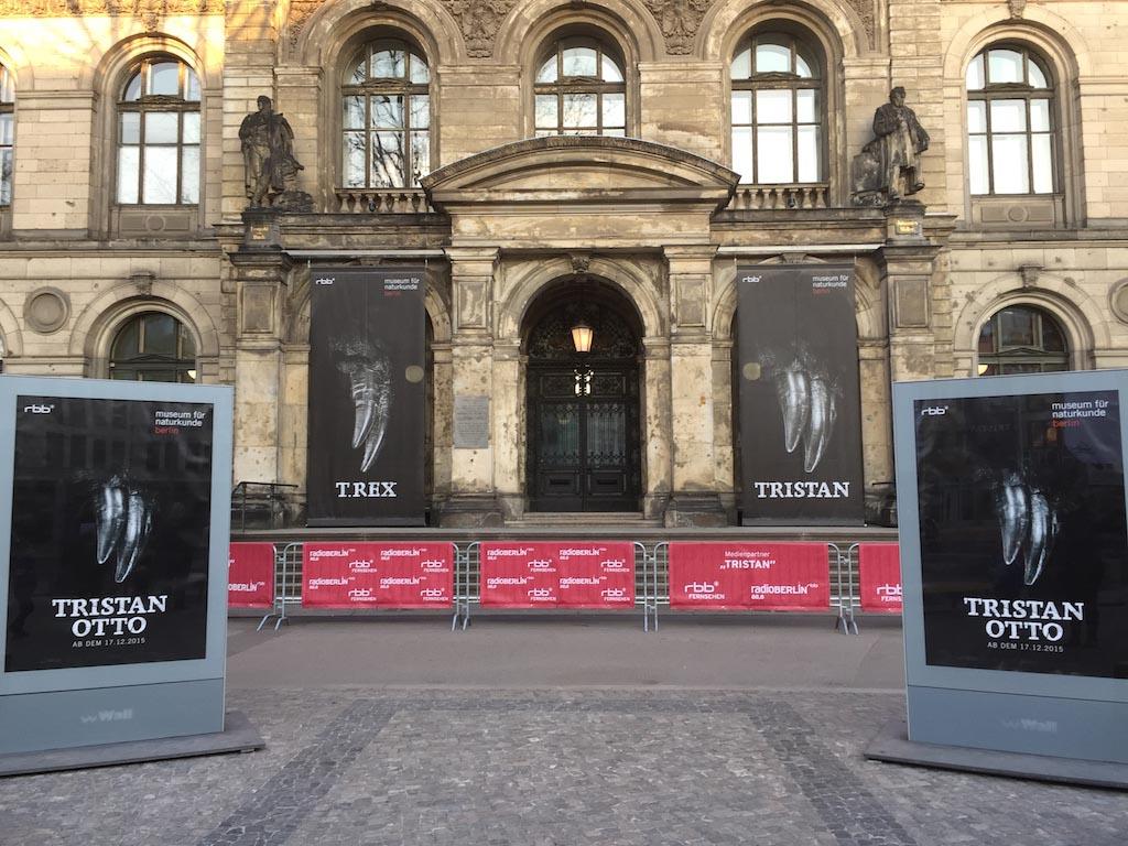 Het is duidelijk te zien: hier kunnen we de T-Rex in Berlijn zien.