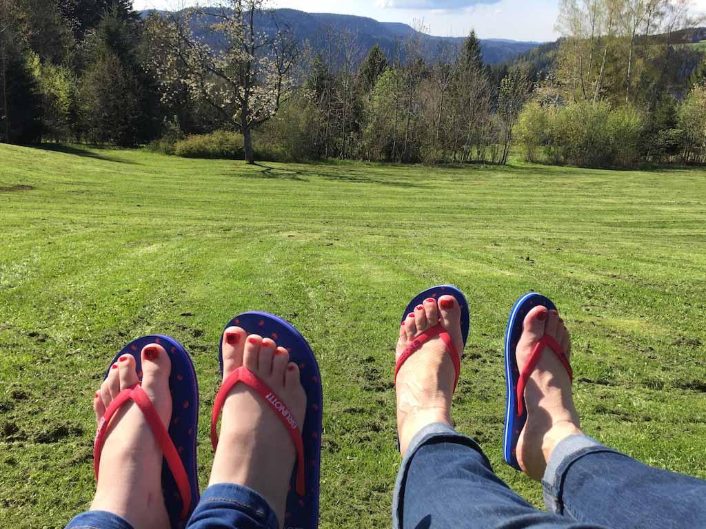 Zonnetje, nagels gelakt, slippers aan. De vakantie is begonnen!