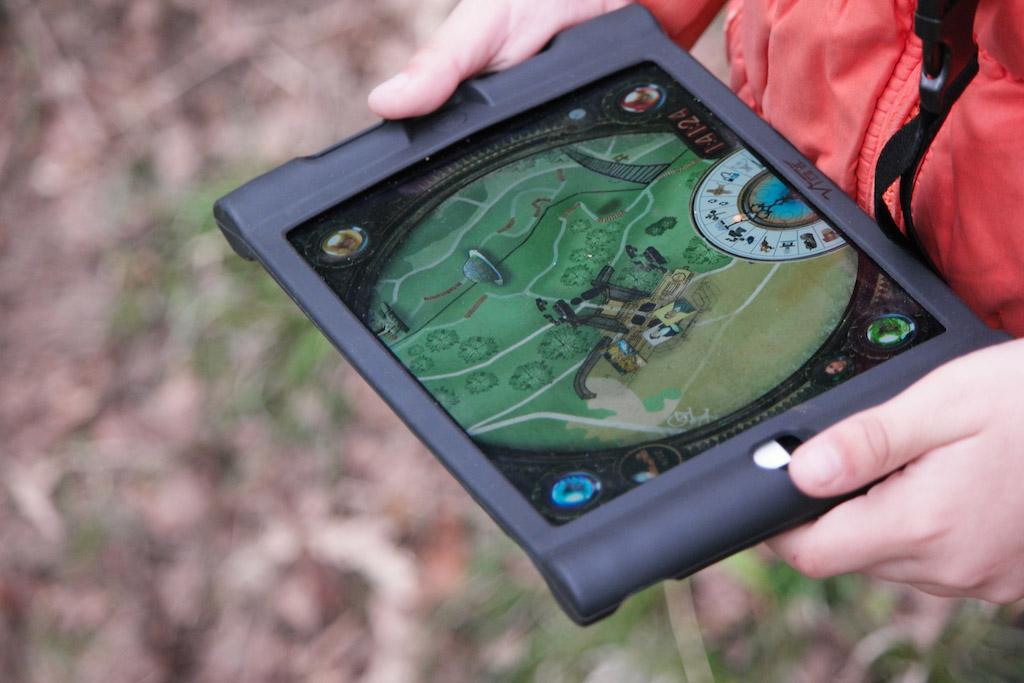 Het programma op de iPad is erg interactief en aansprekend.