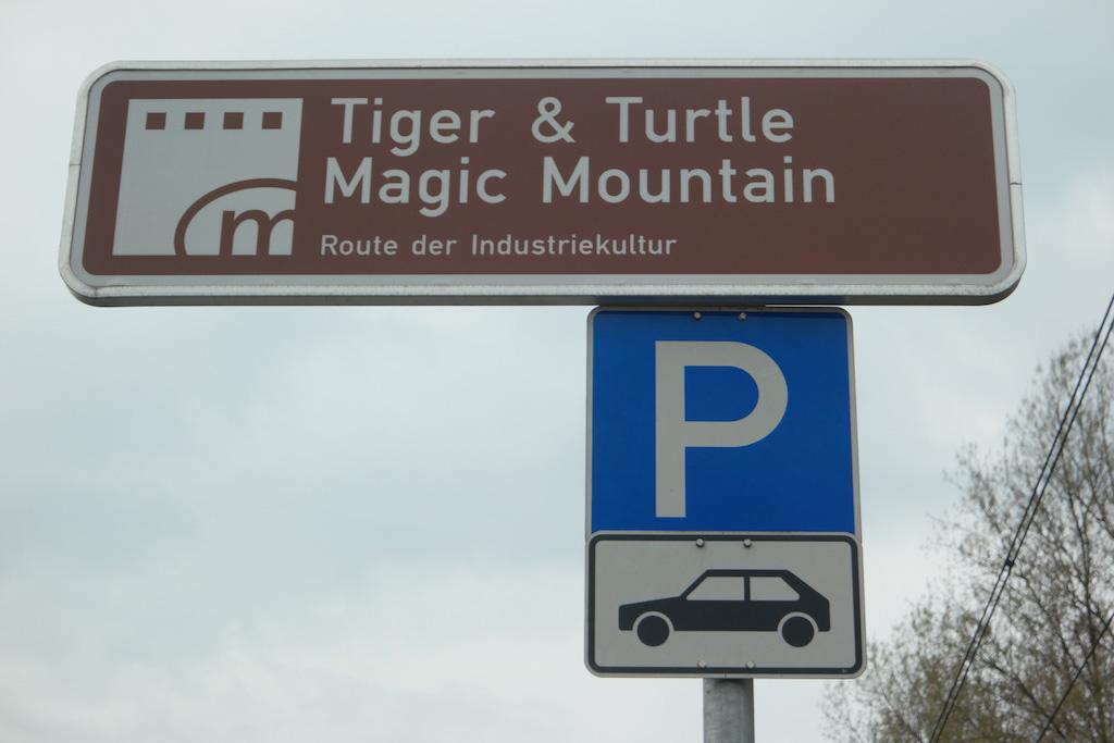 Je auto parkeer je langs de weg.