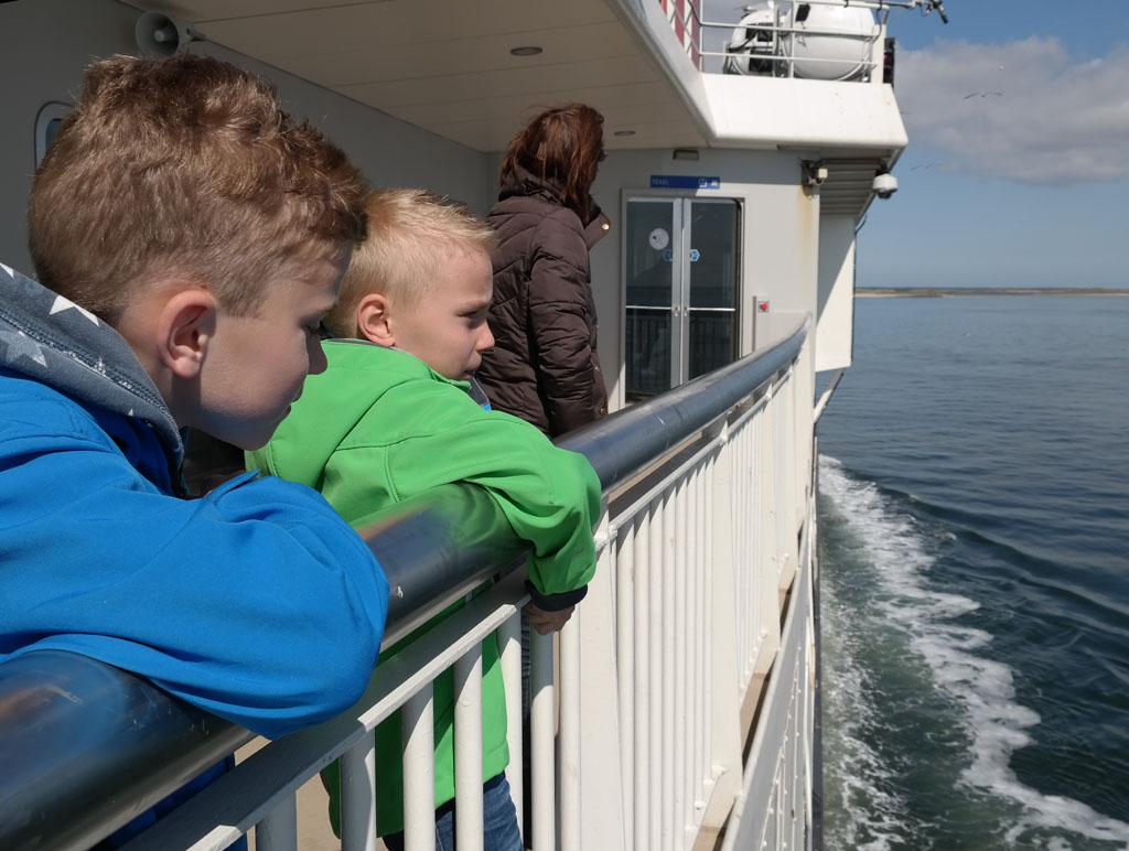 De vakantie op Texel met kinderen begint met de bootovertocht.