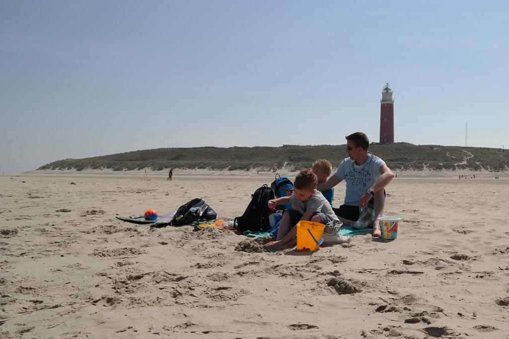 Relaxen op het strand.