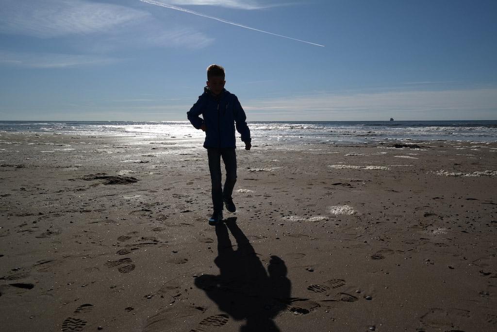 Genieten op het Texelse strand.