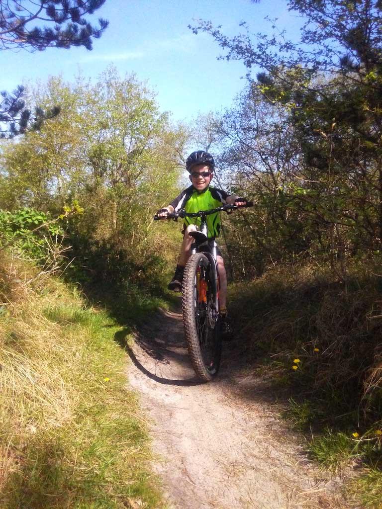 Mountainbiken op Texel.