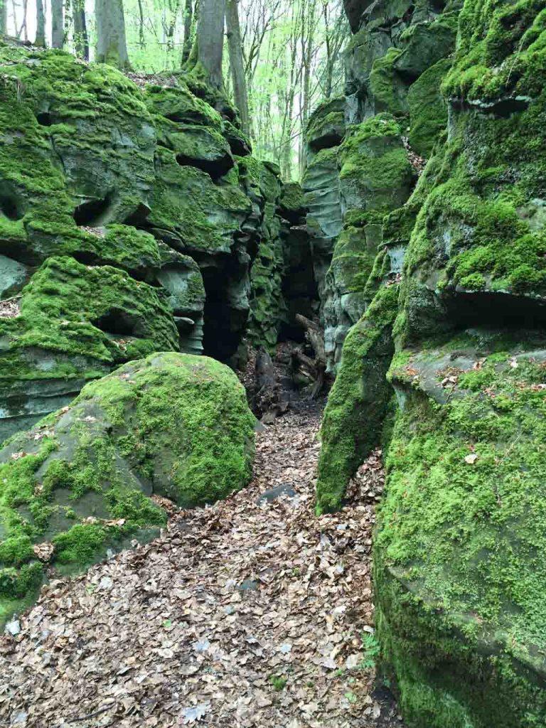 De rotsformaties zijn bijzonder.