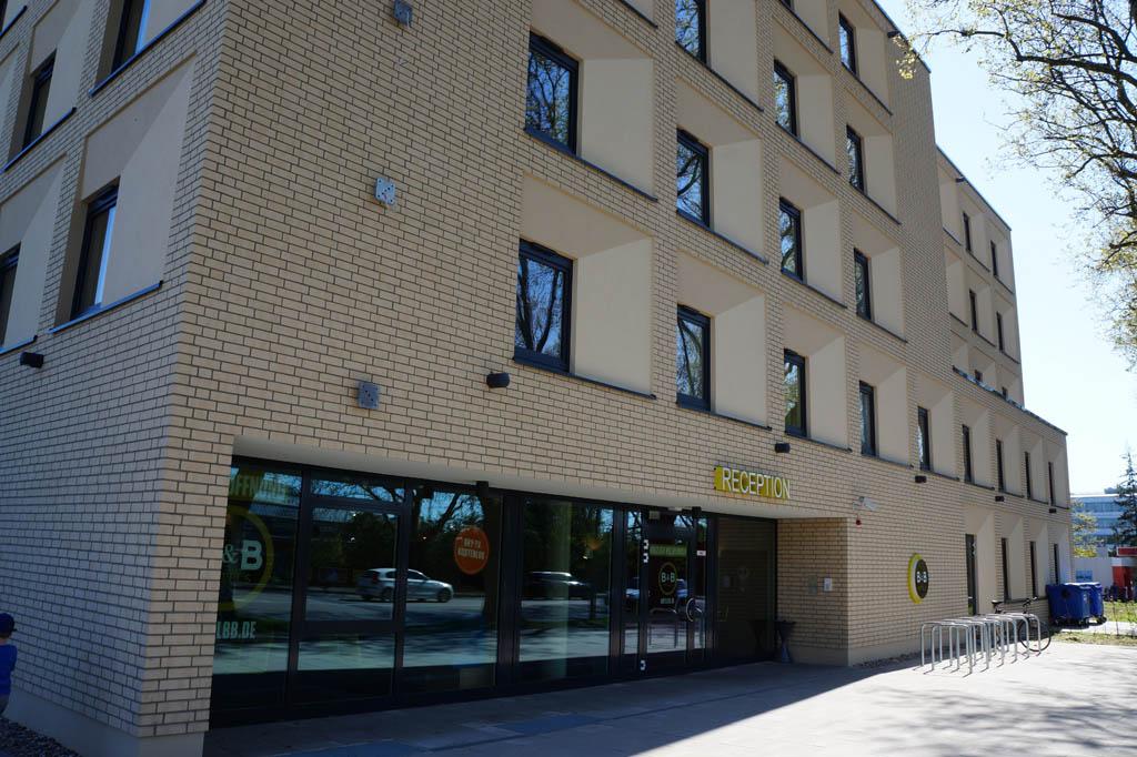 Het B&B hotel in Karlsruhe.
