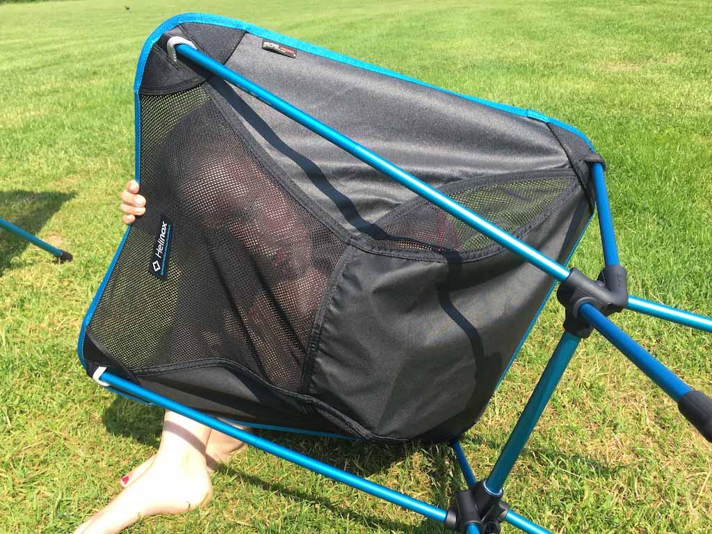 De campingstoeltjes kunnen heel wat hebben.