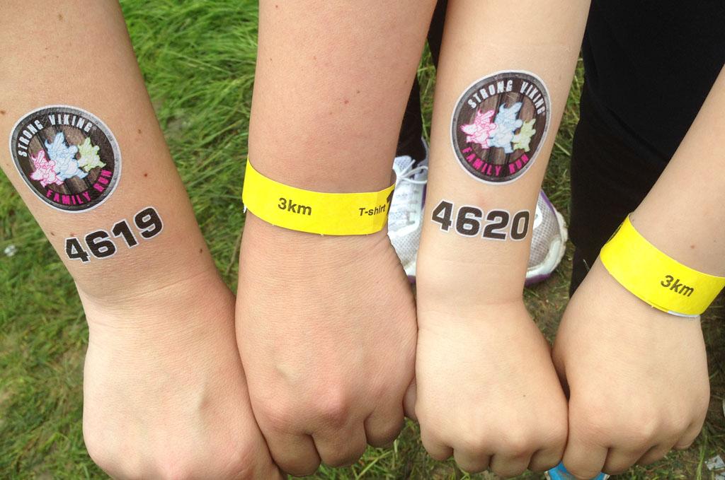 Onze tattoo's met startnummer.