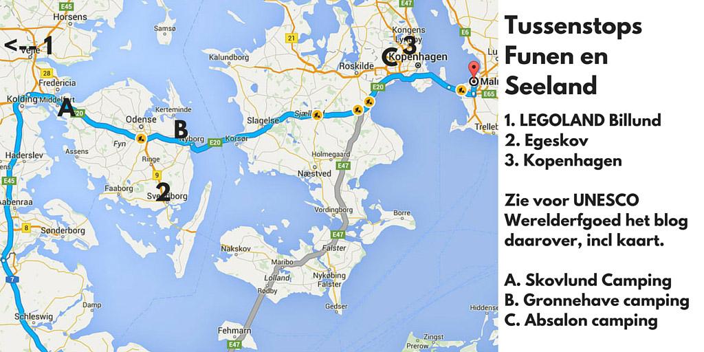 Tussenstops in Denemarken: de Funen-Seeland route.