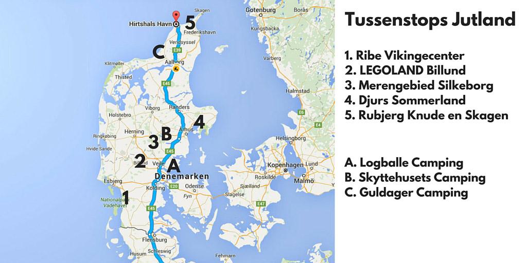 Tussenstops in Denemarken: de Jutland-route.