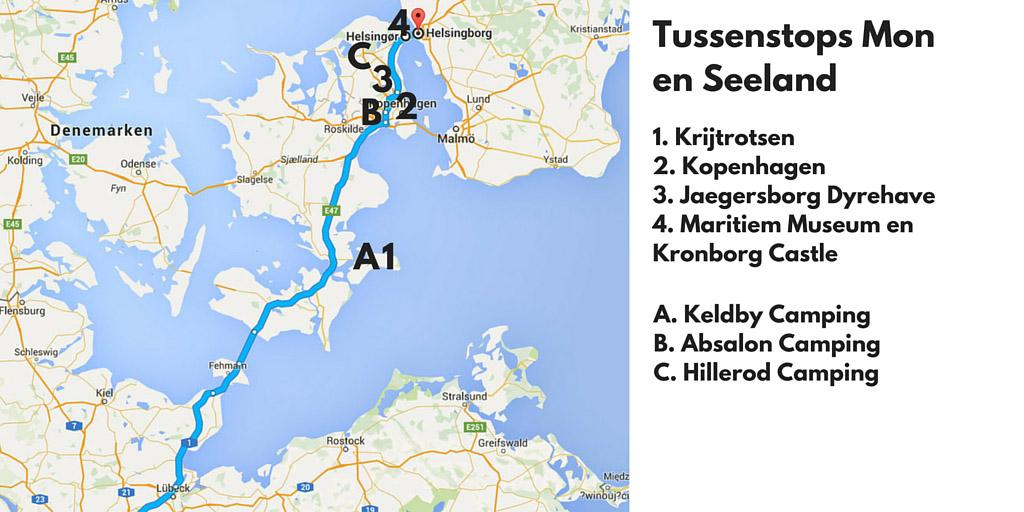 Tussenstops in Denemarken: de Mon-Seeland route.