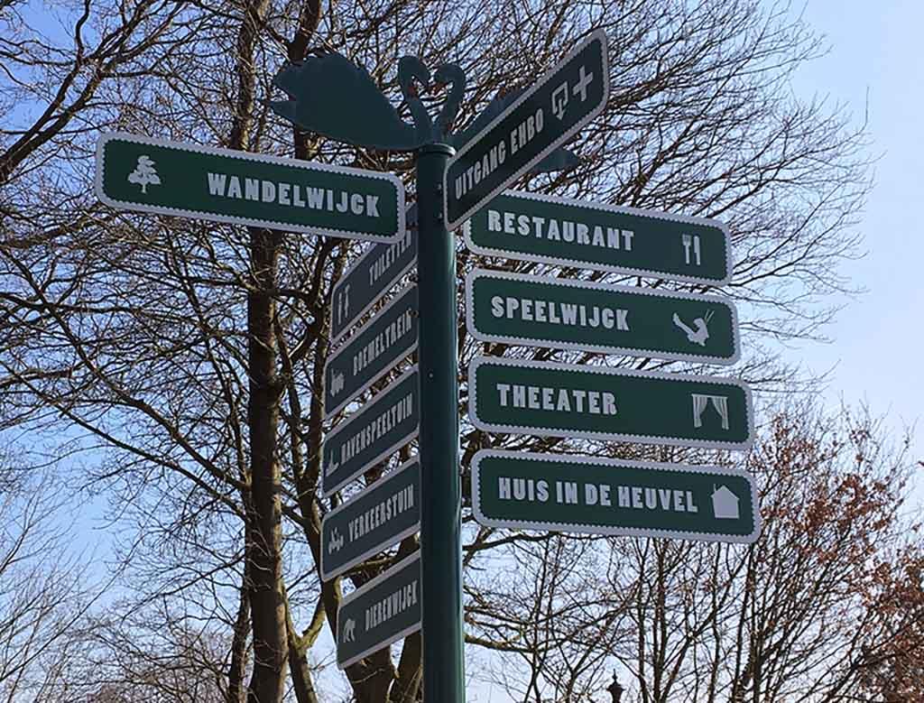 Er zijn verschillende gedeeltes in Plaswijckpark.