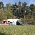 Een mooi plekje op het kampeerveld.
