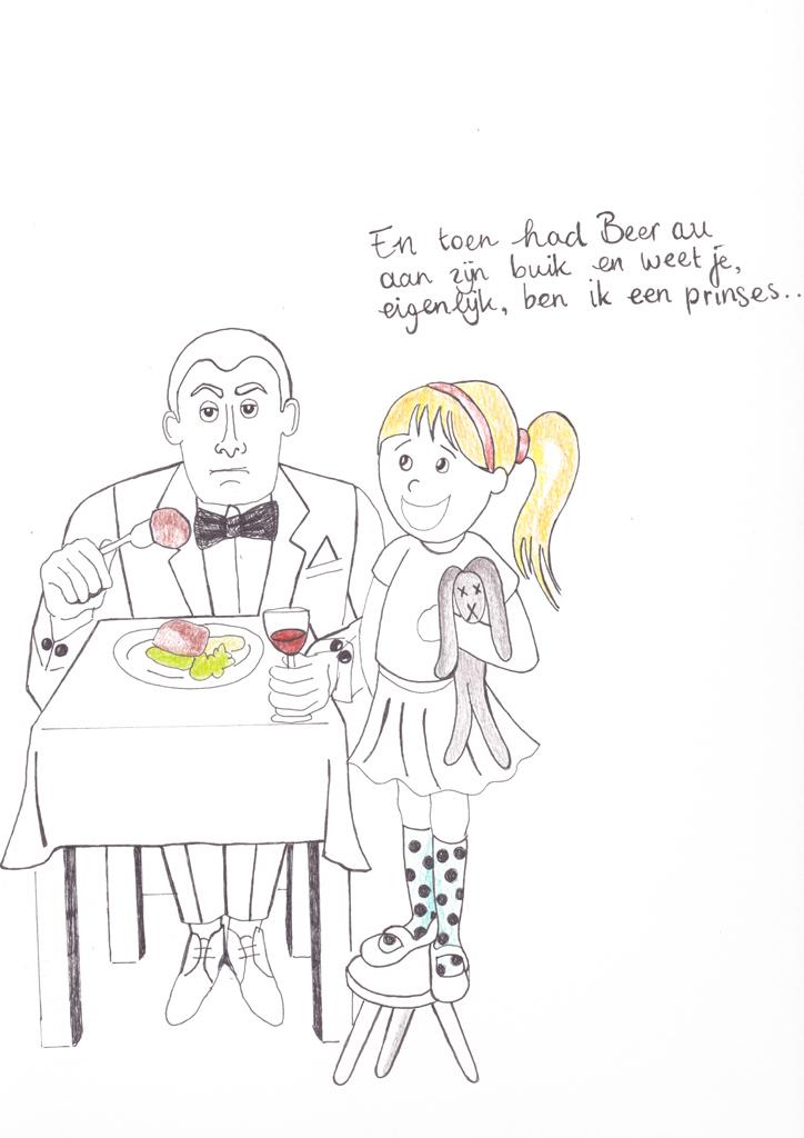 Hoe heurt het uit eten met kinderen-tekening 2