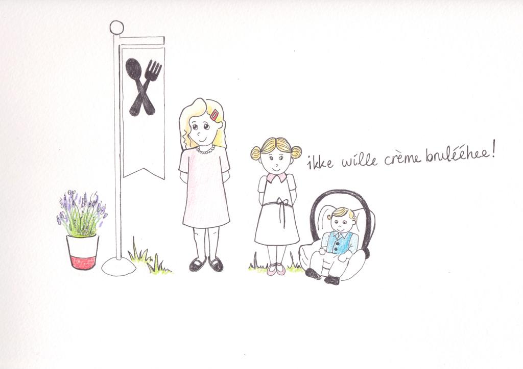 Hoe heurt het uit eten met kinderen-tekening 3