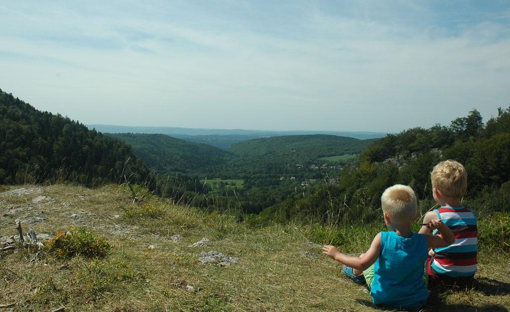 Genieten van prachtige uitzichten.