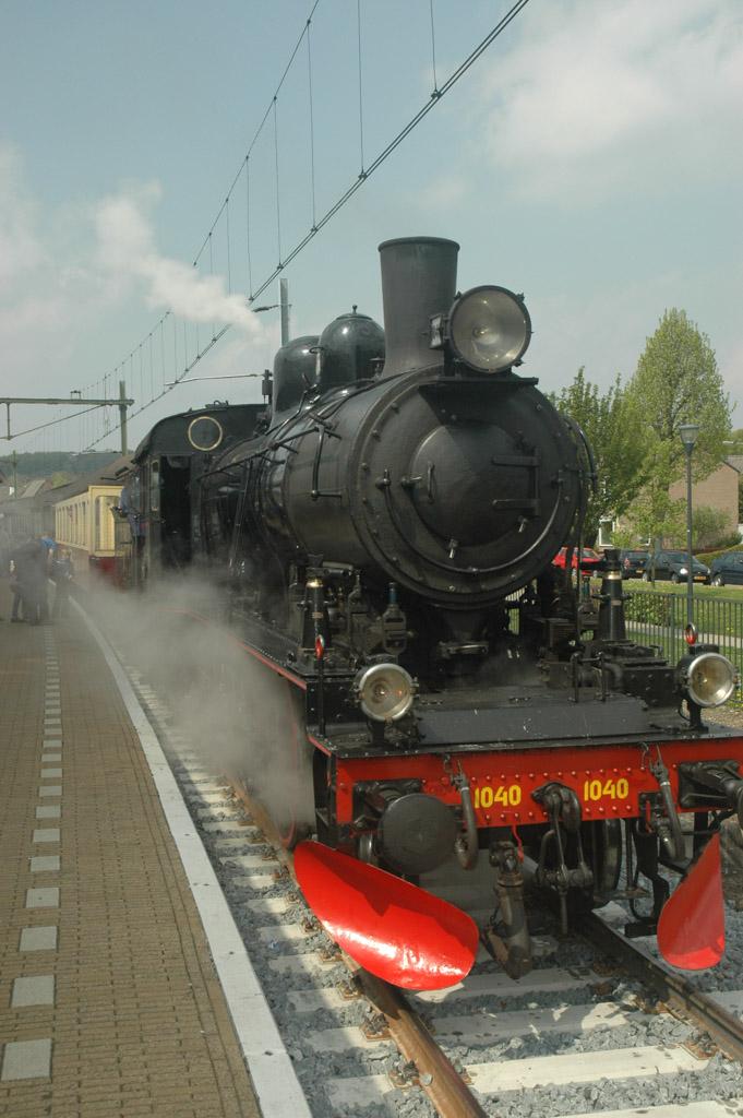 De stoomloc is klaar om ons terug naar Simpelveld te brengen.