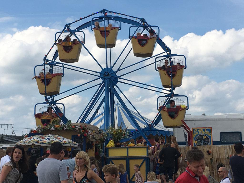 Nostalgische attracties op Festival op 't Eiland.