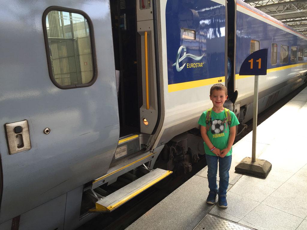 Met de Eurostar rijden we in 2 uur van Brussel naar Londen.