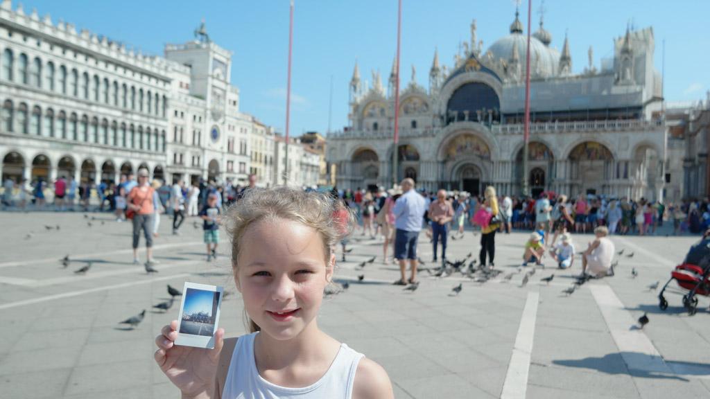 De eerste foto's maken we op het San Marco plein.