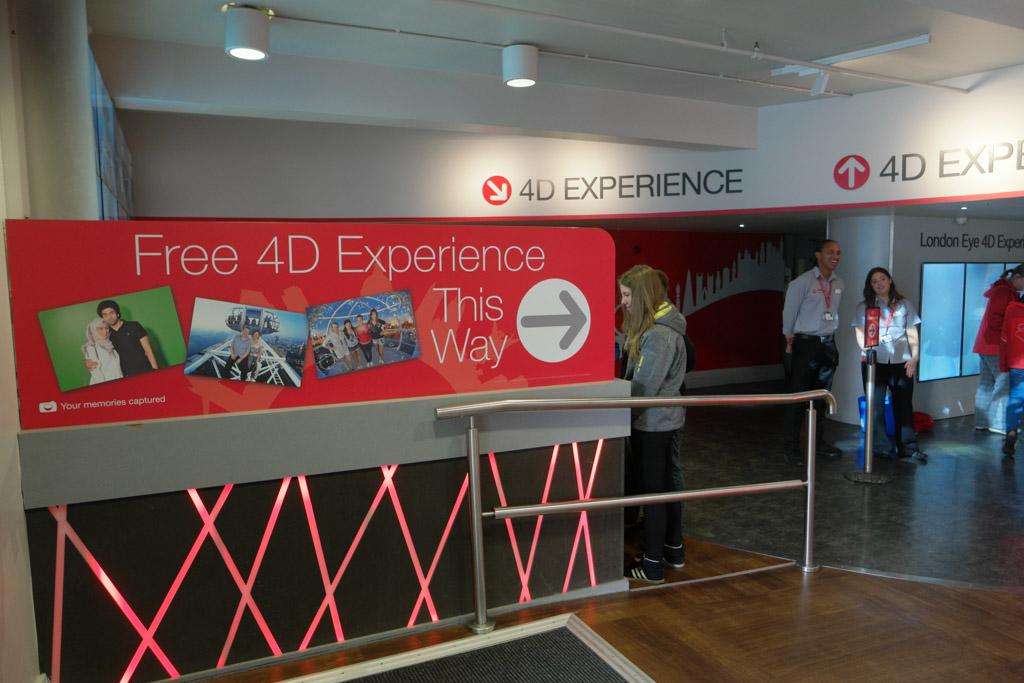 De 4D Experience is gratis. Ze hopen natuurlijk dat je daarna de (dure) foto's koopt.