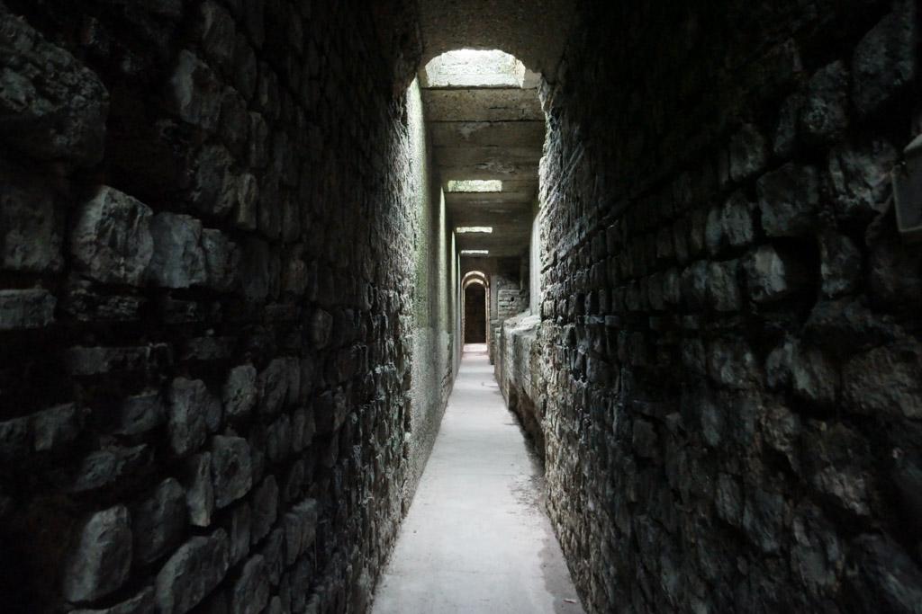 De ondergrondse gangen.