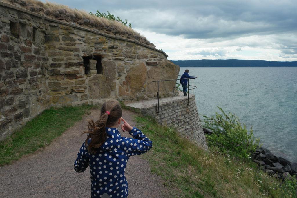Vol in de wind op het zuidelijke puntje van Visingsö.