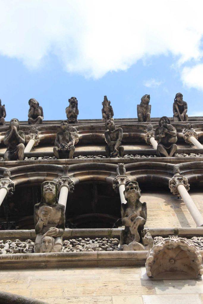 Detail van de Notre Dame.
