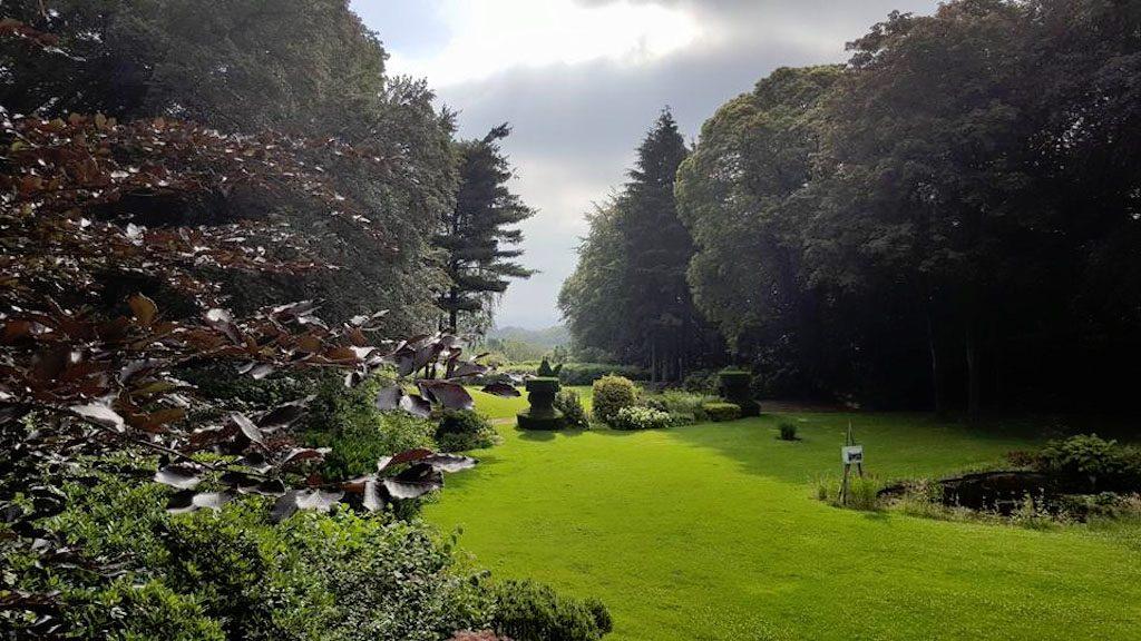 Uitzicht vanaf het terras van Fletcher Parkhotel Val Monte in Berg en Dal.