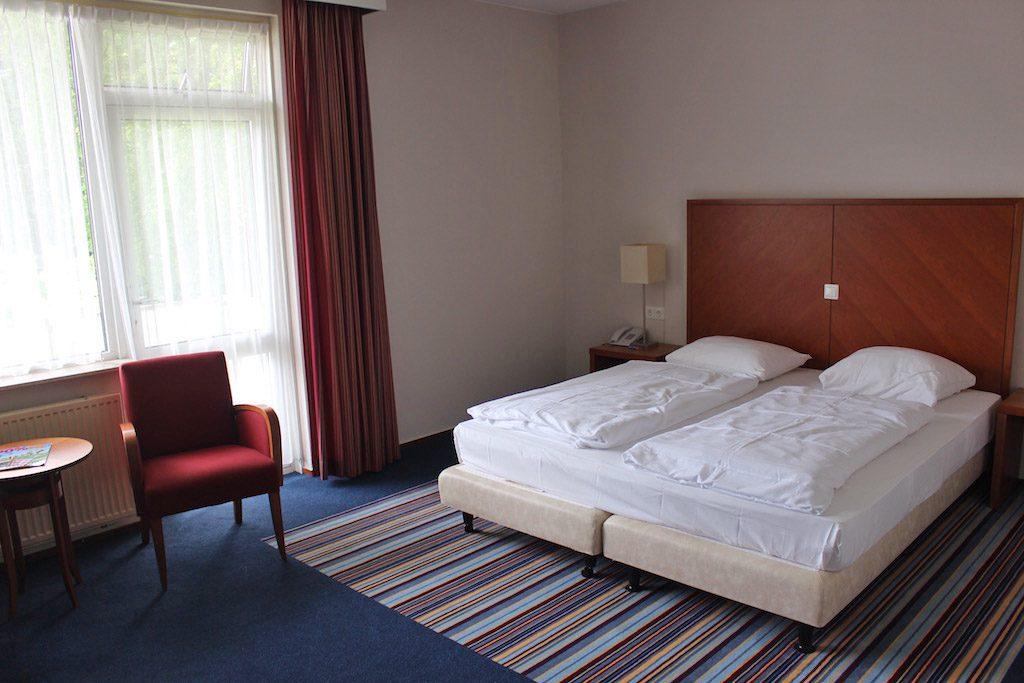 Onze kamer ziet er prima uit.