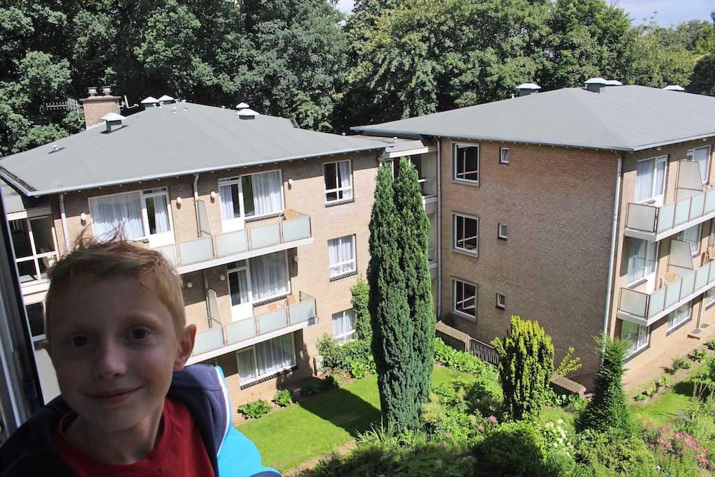 Uitzicht vanaf ons balkon.