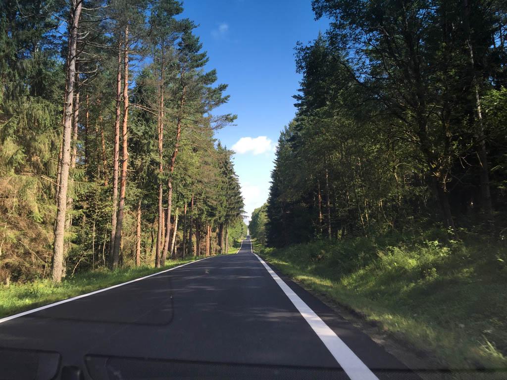 Je komt veel bos tegen onderweg.
