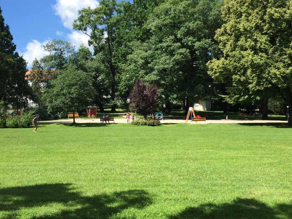 Het park in Cesky Krumlov.