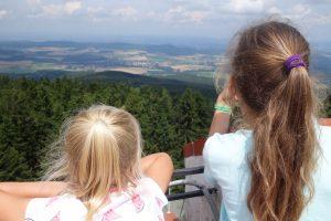 Uitzicht vanaf berg Klet.