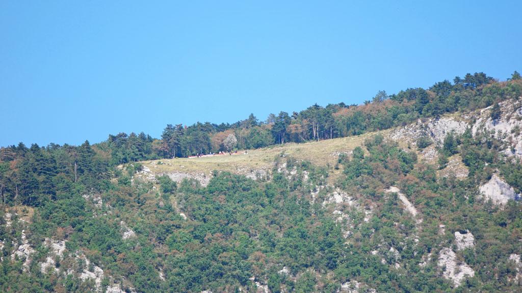 Bovenop de berg ligt de startplaats.