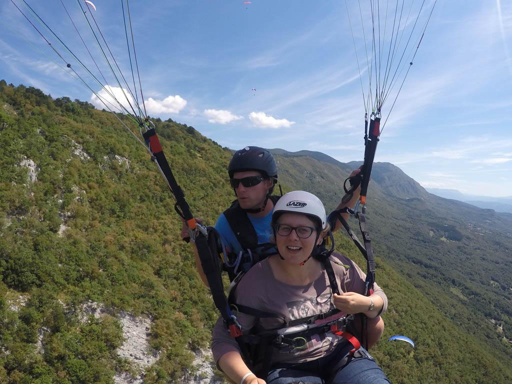 Ik vlieg vooral langs de bergwand.