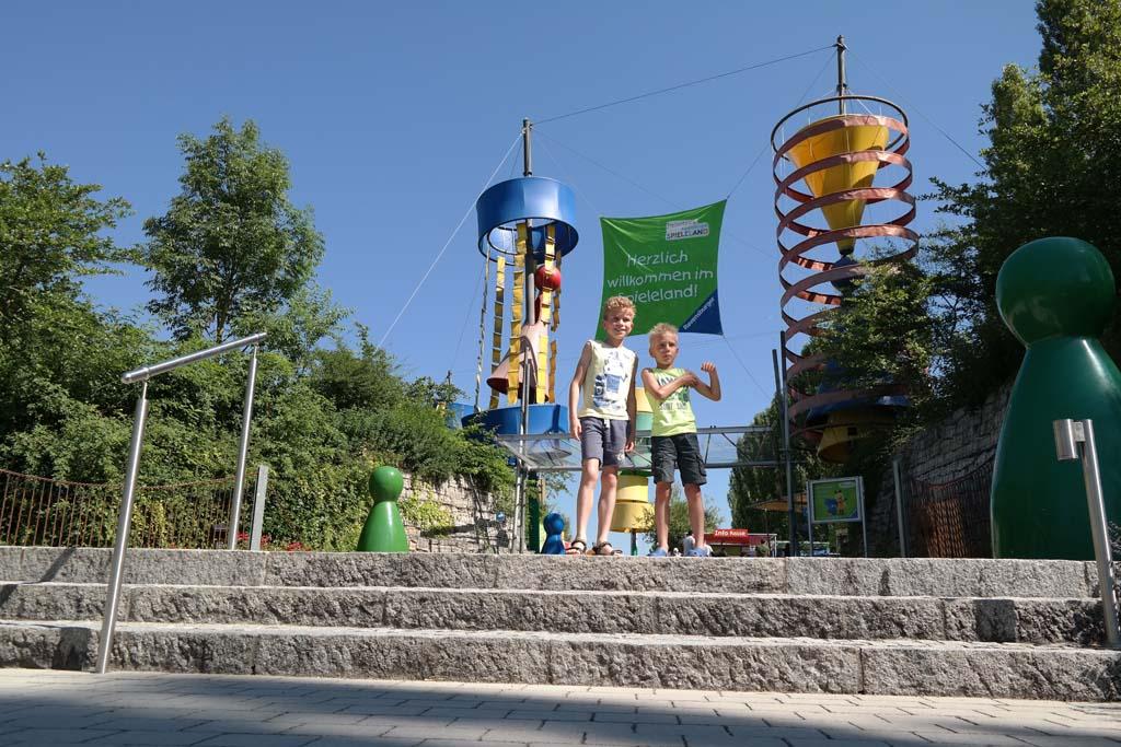De ingang van Ravensburger Spieleland