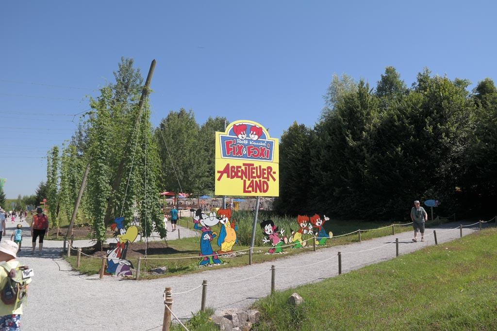 Ravensburger Spieleland is een schoon en groen park.