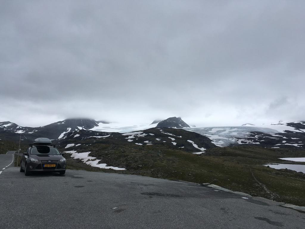 Gletsjer nabij Fantesteinen.