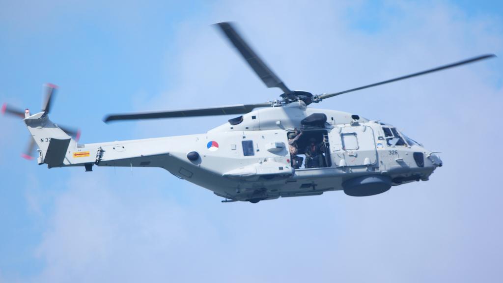 Live contact met de helikopter.