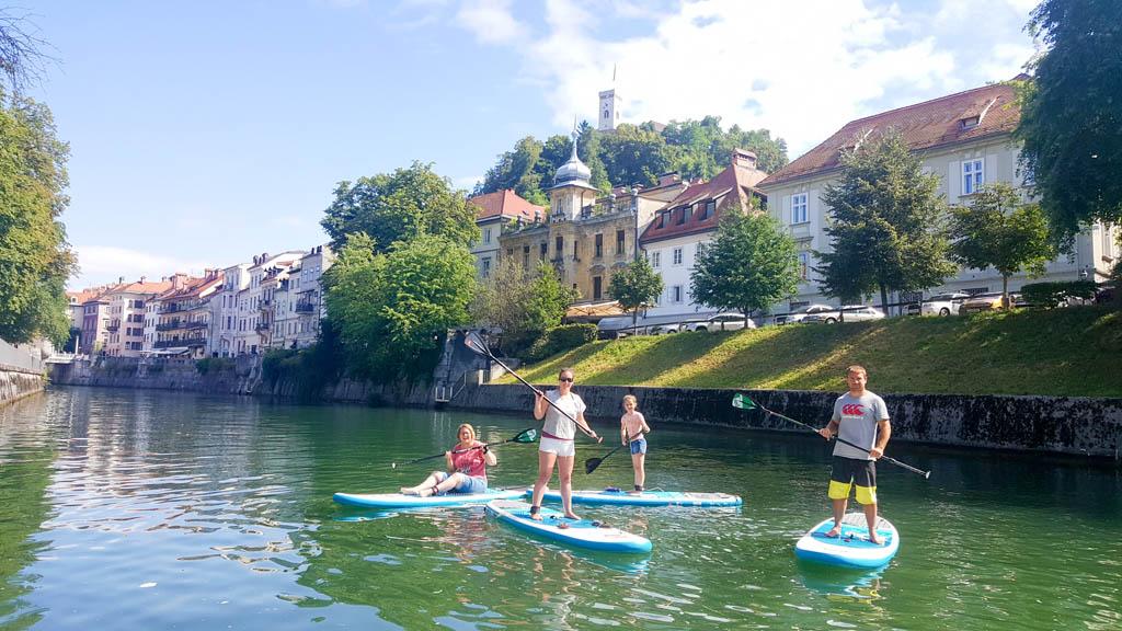 Wij zijn overtuigd: SUPpen in Ljubljana met kinderen is leuk!