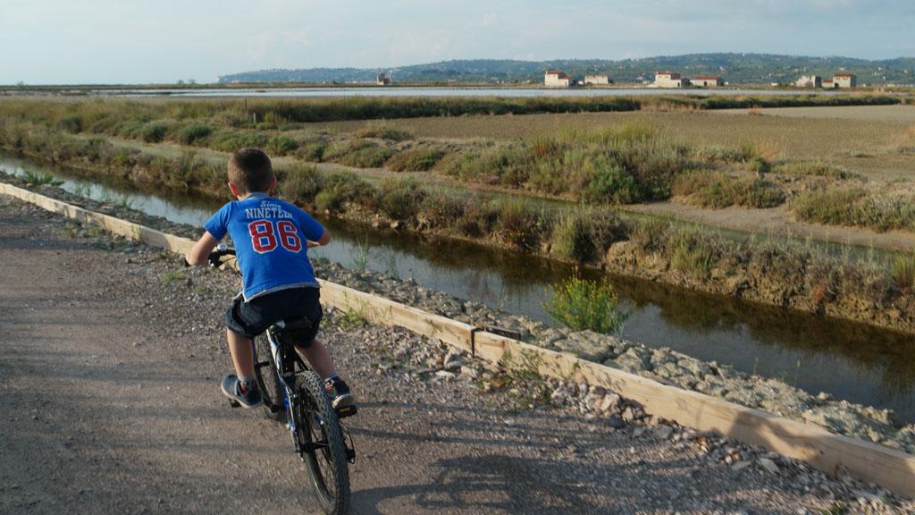 Voor kinderen is de te fietsen afstand precies goed.
