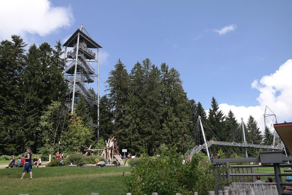 Het terrein van Naturerlebnispark Skywalk Allgäu