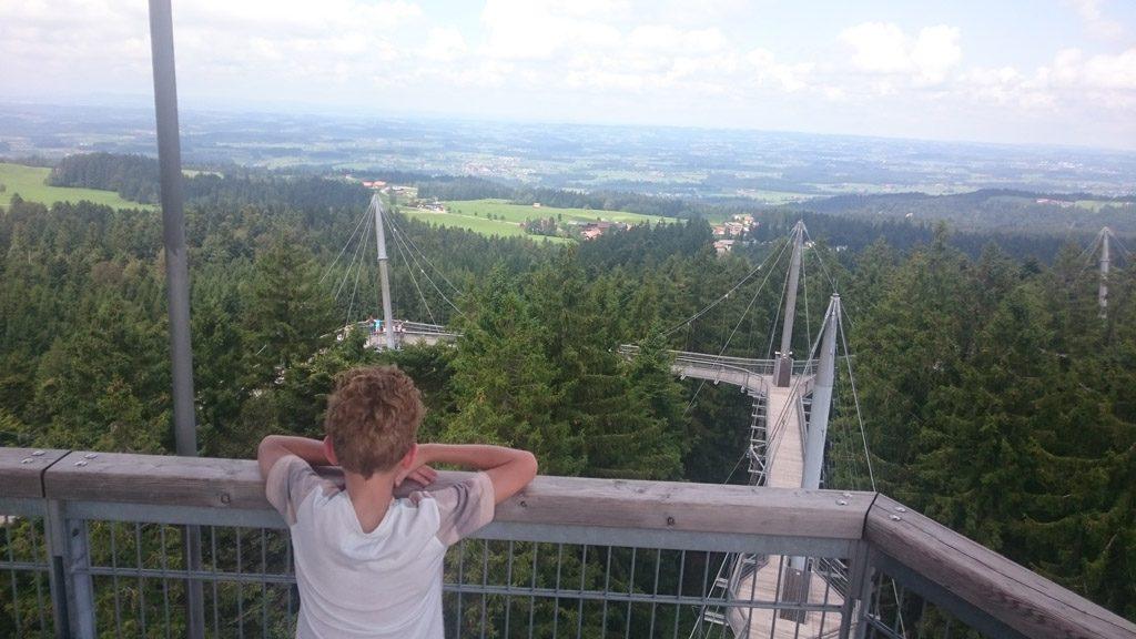Genieten van het geweldige uitzicht vanaf de toren.