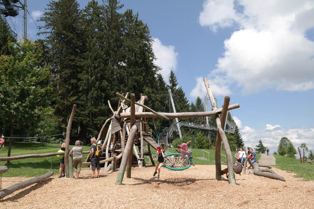 Skywalk Allgäu heeft een mooie avontuurlijke speeltuin