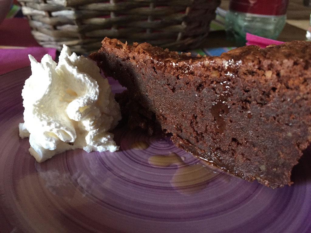 Chocoladetaart met olijfolie.