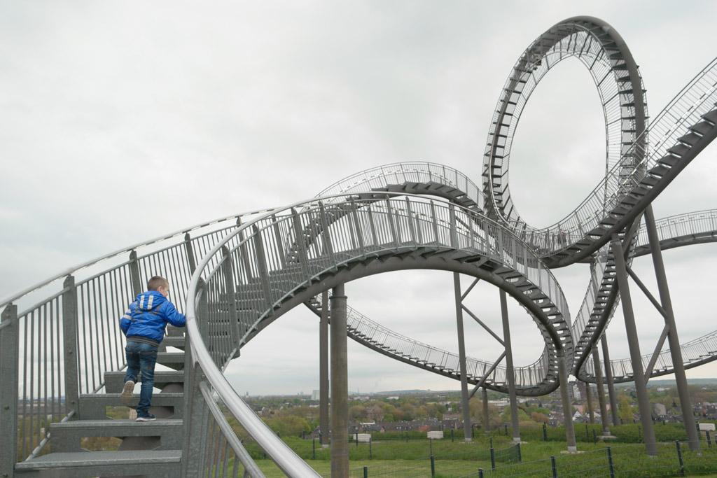 Gratis achtbaan in Duisburg. Hij gaat alleen niet heel snel....
