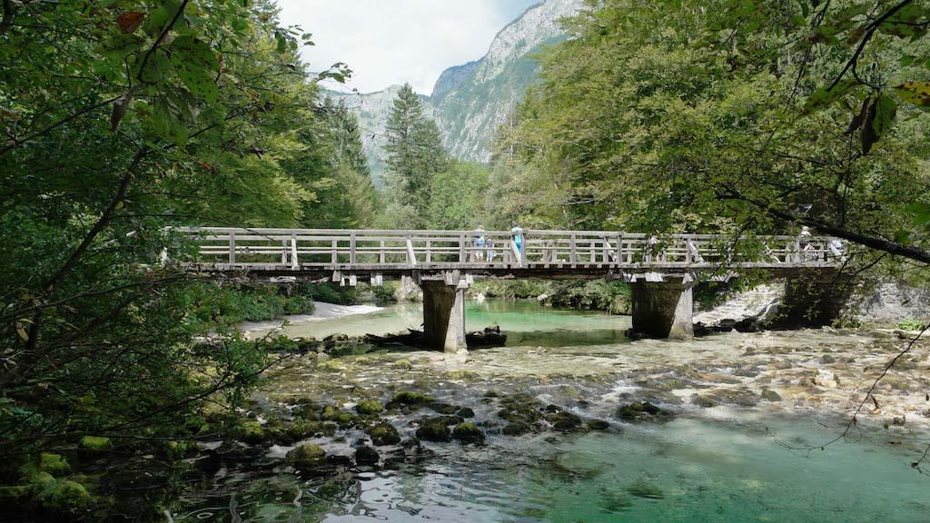 Tijdens het wandelen in Bohinj kan je er niet omheen: prachtig gekleurd water.