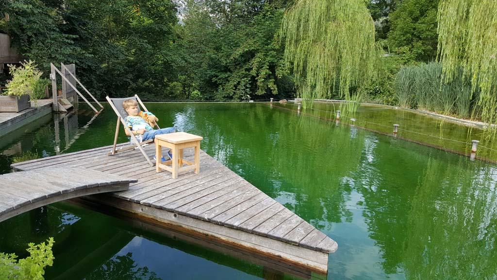 Een echte Eco zwemvijver.